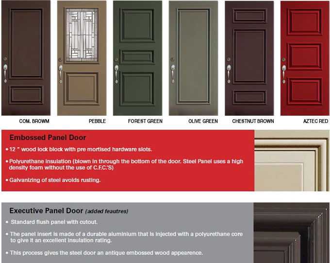 Executive Panel Entry Doors