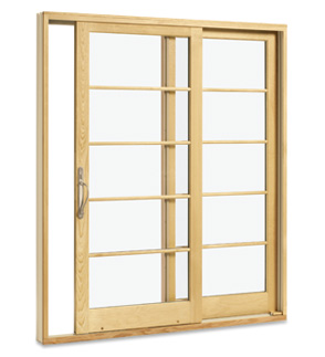 Integrity sliding french door for Sliding glass door to french door