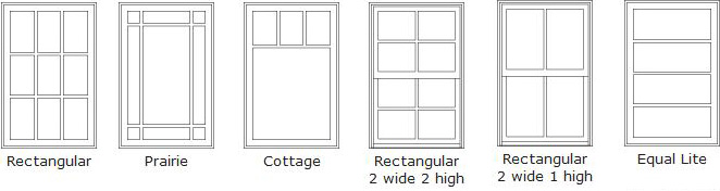 Double Hung Windows With Grids : Double hung window grid patterns