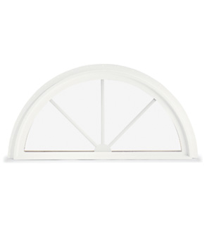 Custom wood round top windows for Round top windows