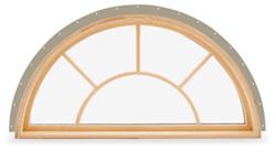 Custom Wood Round Top Windows