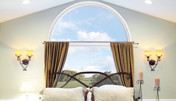 Fiberglass Round Top Windows